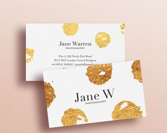 Business Card Design · Premade Business Card Template · Elegant gold foil Business Card · Wedding Planners Business Card · Business Card