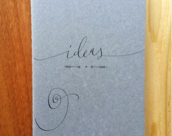 Ideas Ruled Moleskine : Handwritten