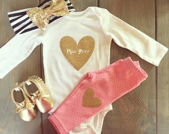 Baby heart onesie