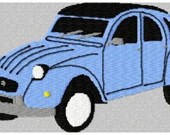 2cv deudeuche embroidery design machine embroidery patterns