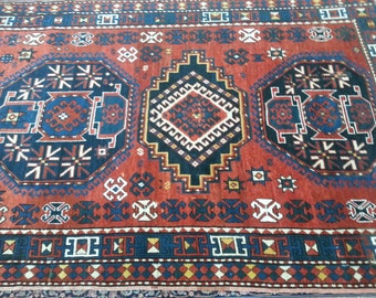 Antique Lori Pambak Kazak 9.1 x 5.9 ft 276 × 175 cm