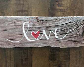 Barn Board LOVE Sign