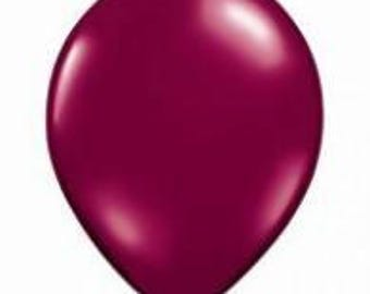 28cm Jewel  Burgundy Latex balloon