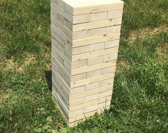 54 Piece 2x4 Tumble Tower/Jenga set with Carrying Bag Plus FREE SHIPPING