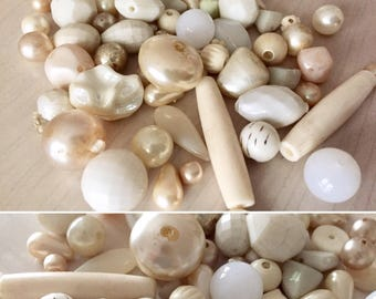 Vintage Beads - white - jewelry - crafts