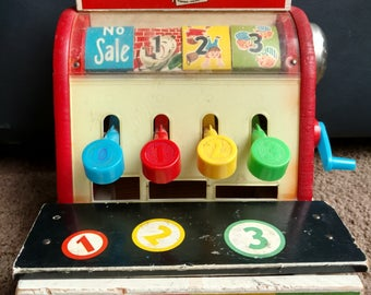 1960's Fisher Price Cash Register NEW ITEM!!!