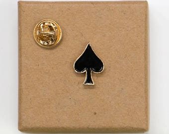 Free Shipping! Playing Card Ace of Spades Enamel Pin
