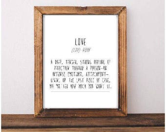 Love Definition Printable