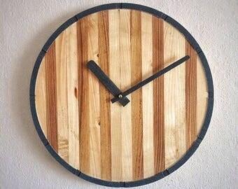 wall clock wood clock rustic wall clock home decor Housewarming gift