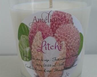 Lychee scented candle / Scented candle-lychee