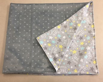 COZY - Customize Me! Star Themed Baby Blanket, Baby Shower Gift, Gender Neutral Baby Blanket, Baby Blanket, Nursery Blanket