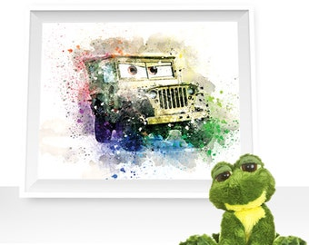 80%OFF Cars print, cars wall decor, Cars printable, Sarge print, Sarge watercolor, Sarge art print, Sarge printable, cars watercolor