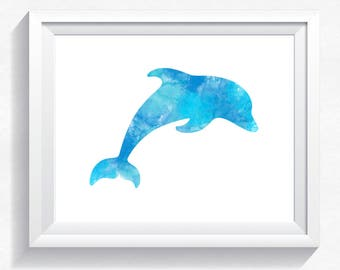 80%OFF Dolphin print, watercolor print watercolor dolphin watercolor poster, dolphin wall art, dolphin painting, dolphin printable, download