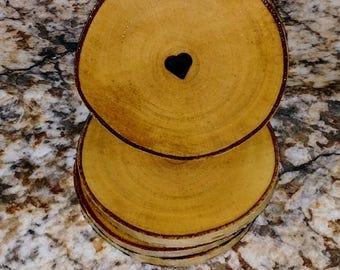 Birchwood Heart Coasters