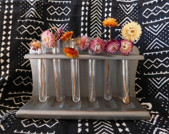 Test tube etsy for Test tube flower vase rack