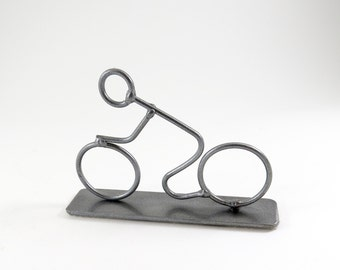 Steel Bicycle Sculpture Bicyclist Art Cyclist