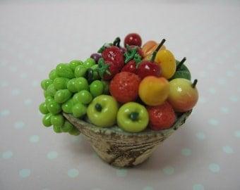 Miniature dolls house fruit basket