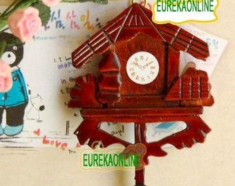 Miniature dolls house stylish clock
