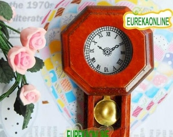 Miniature dolls house clock