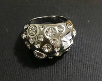 Sterling silver 925 cz dome statement ring