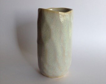 Small Vase with oyster glaze