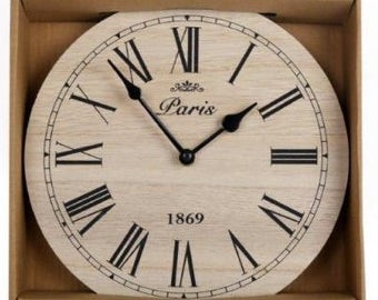 Small wooden vintage wall clock