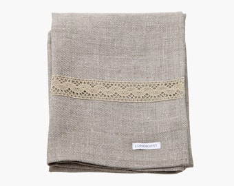 Cupboard dishcloth tilde linen - towel - linen - kitchen towel - nature - with lace