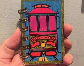 Street Car Playing Card mini notebook