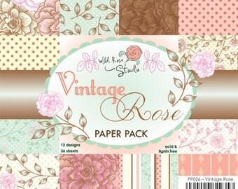 Vintage Rose 6 x 6 paper pack