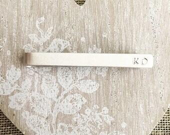 Personalised Tie Clip - Tie Bar - Wedding - Skinny Tie Clip- Dad Gift- Gift For Him - Best Man Gift - Groomsman - Initials - Monogram -