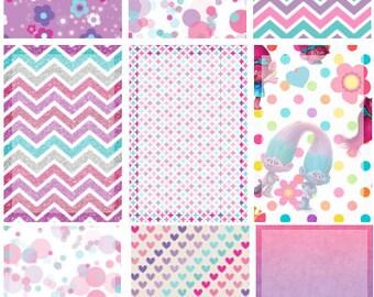 TROLLS Half & Full Boxes // Stickers // Planner // Happy Planner // Erin Condren // Personal