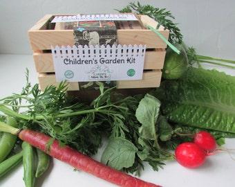 Children's Garden Kit - 100% USDA Organic - Custom Garden Seeds - Fun & Easy Specialty Garden - Kids Gardening Gift Set - Beginner