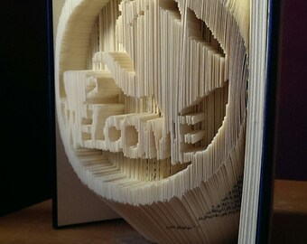 Welcome Coffee book fold art