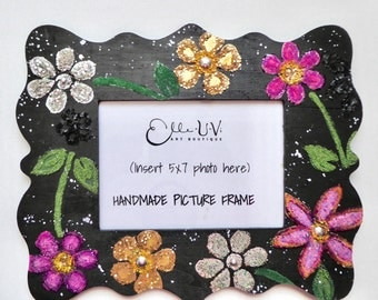 Handmade Floral Picture Frame