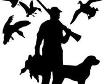 Duck Hunting Decal Etsy - Sporting dog decals