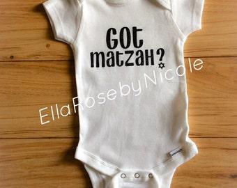 Jewish Baby, Got Matzah onesie, Baby, Baby onesie, Onesie, Newborn, Jewish, Adorable, Baby gift, New baby, Passover