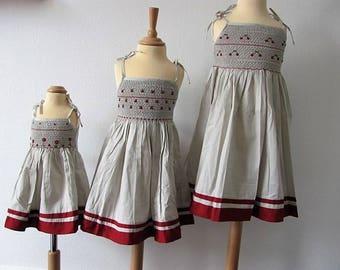 Dress Smocke at ramp handmade new