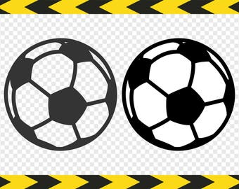 Soccer ball SVG DIY decal Files for Cricut Silhouette Clipart Dxf Pdf Png