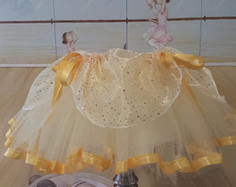 Belle inspired Tutu Yellow with sparkles