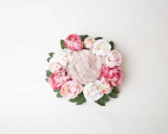 Newborn Digital Backdrop, Wreath Digital Backdrop, Flower Digital Backdrop