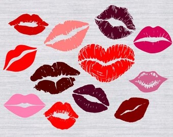 Lips SVG bundle, Valentine SVG, Kissing Lips svg, Kiss svg, cut files for silhouette or cricut, dxf, clipart, vector, kisses, valentines svg