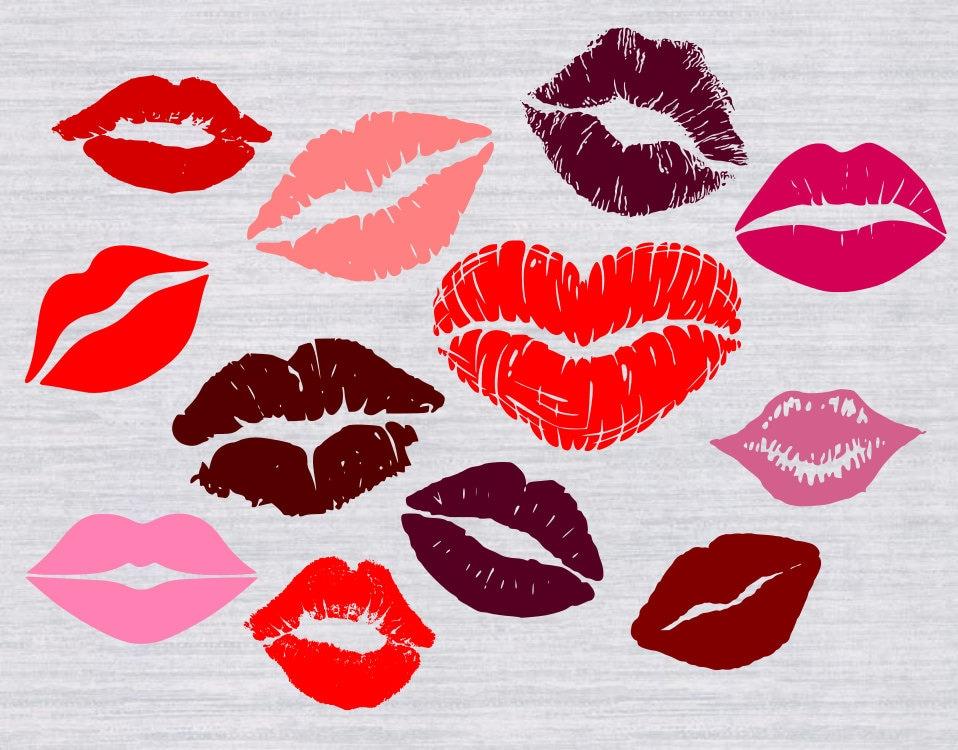 Download Lips SVG bundle Valentine SVG Kissing Lips svg Kiss svg