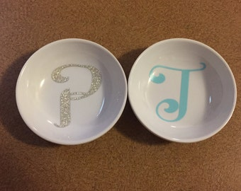 Personalized Initial Ring Dish; bridesmaid, new bride, thank you gifts