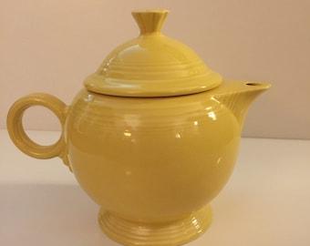 Fiestaware teapot, yellow