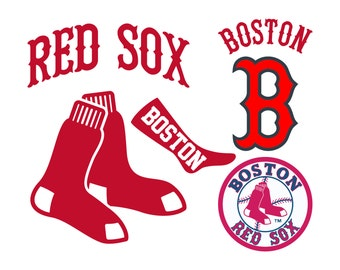 Boston Red Sox Cut Files, Boston Red Sox SVG Files, Boston Red Sox SVG Cutting Files, Boston Red Sox Cuttable SVG File, Instant Download