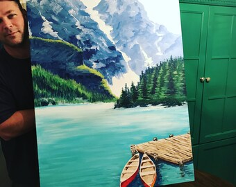 Mountain Lake Painting