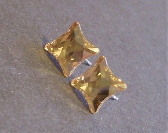 Swarovski Starlet Crystal Golden Shadow Stud Earrings
