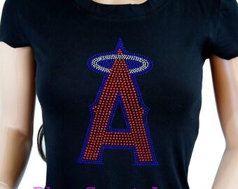 Anaheim Angels Jersey Rhinestone Bling T-shirt