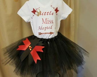 Adoption Outfit, Adoption Tutu Outfit,Adoption Day,baby shower gift,forever family, adoption photo,adoption , coming home outfit,adoption