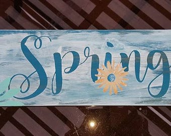 Spring Wooden Sign